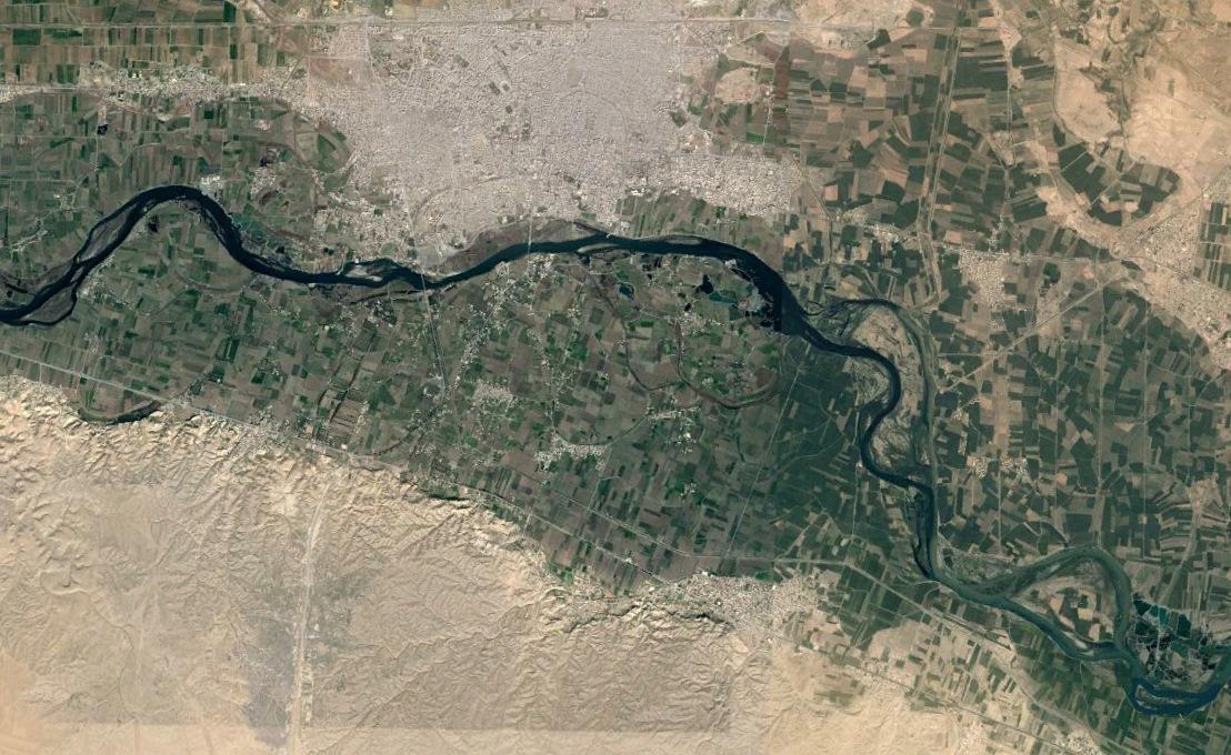 Sat map Raqqa