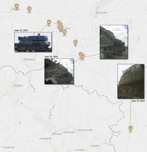 Exploring the MH17 Linked Buk Convoys in Ukraine and Russia with Mapbox