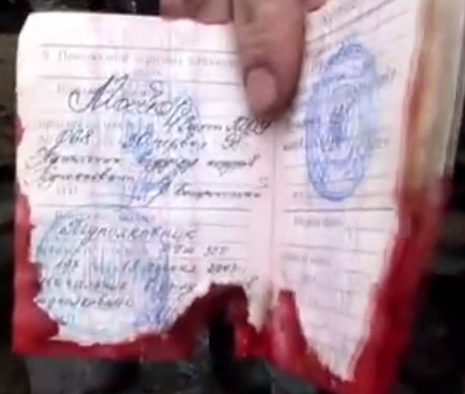 Bloodied passport of deputy ATO head, according to separatists