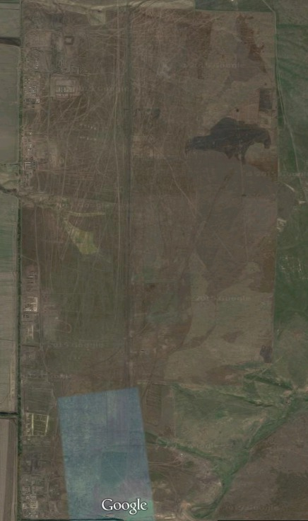 Recent satellite imagery, available on Google Earth at 47.403252, 39.227971