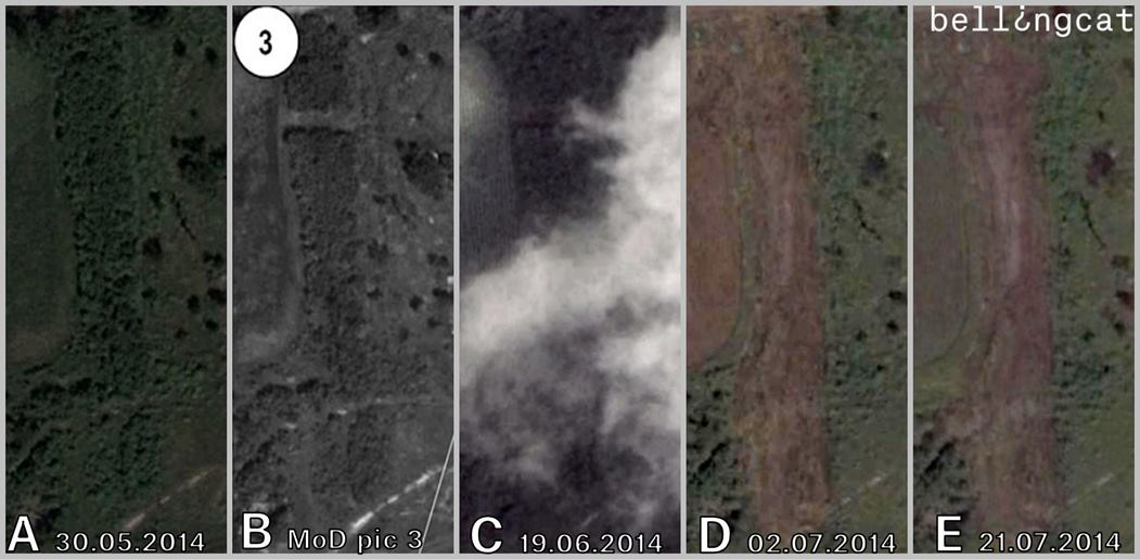 An example of incorrectly dated imagery used by the Russian Ministry of Defence