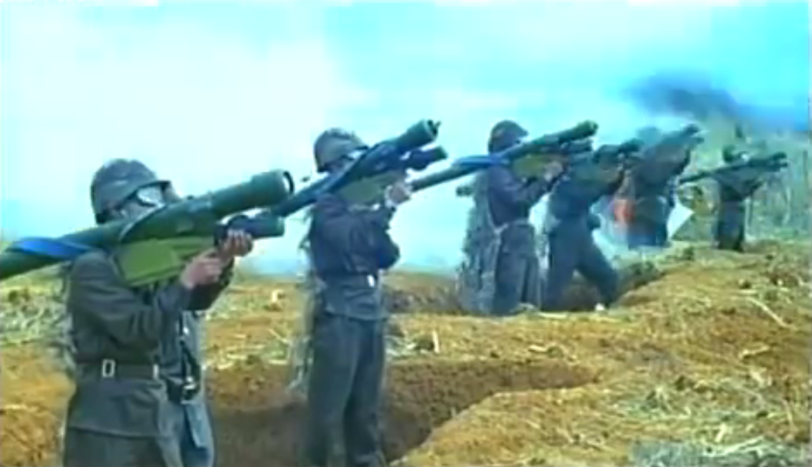MANPADS' in use with the Korean People's Army. First three MANPADS from the left: Igla-1, North Korean HT-16PGJ also seen in Syria, Strela-3.