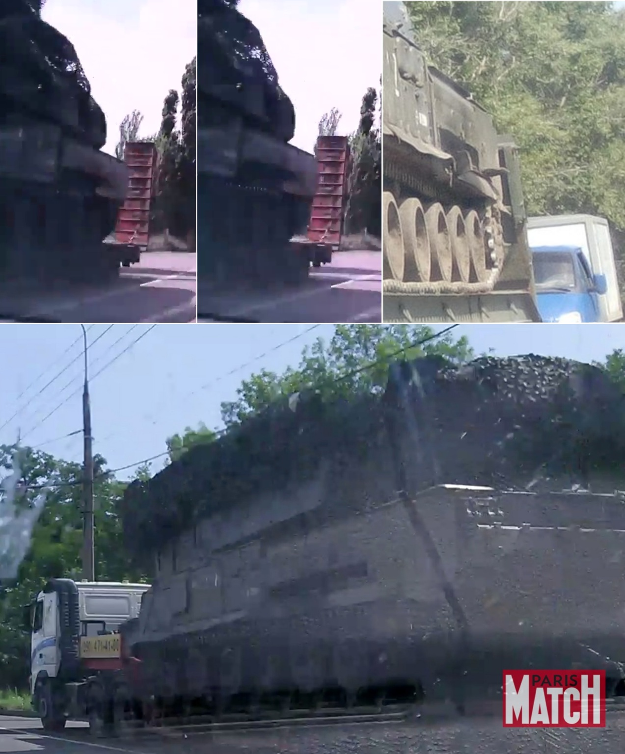 Comparison of features of Buk 332 in Makiivka (top left), Alexeyevka (top right),and Donetsk (bottom)