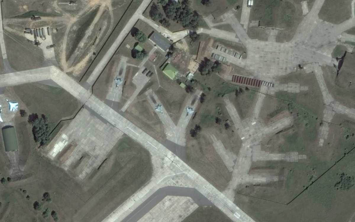 Russia's SU-27 Probably Departed Belarus