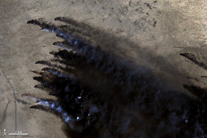Image courtesy Matt Radcliffe, using Landsat data. Caption by Ellen Gray. February 22, 1991. Sensor(s): Landsat 5 - TM