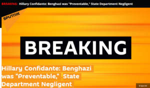 Russia Was Not Behind Donald Trump's False Blumenthal-Benghazi Claim