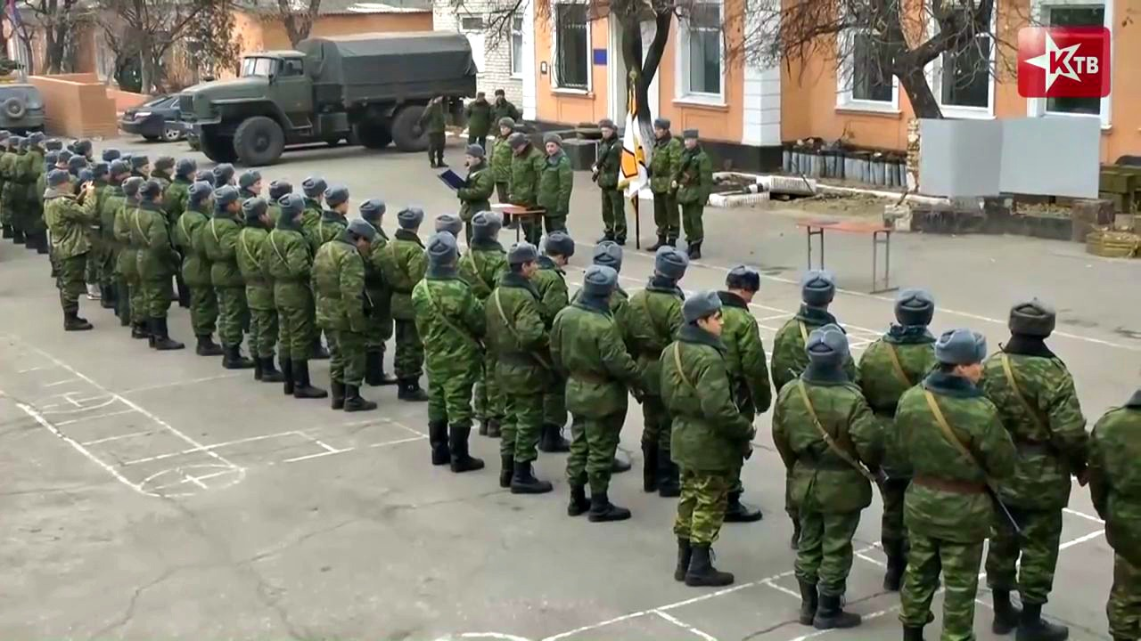 "Screenshot from the video ""LNR. People's militia. Military oath."""