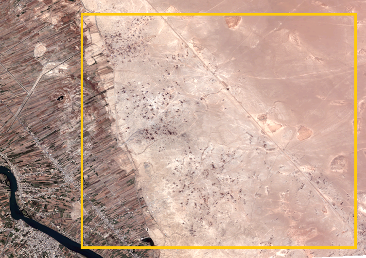 Overview Omar Makeshift oil site. Image by Digital Globe, May 2016