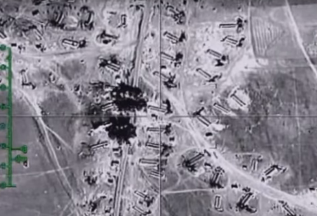 RuAF attacks on makeshift oil structures, February 2016