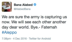 Image 24: @AlabedBana's final post.