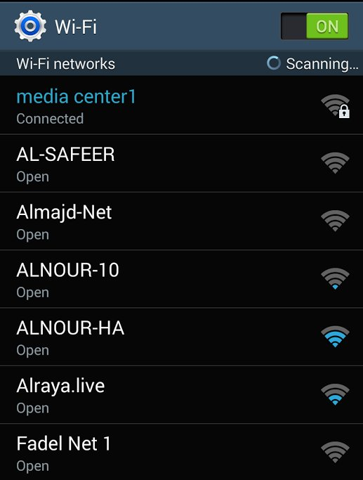 Image 12: Example of WiFi hotspots available to Syrian activist in rebel controlled Syria. Courtesy of Kenan Rahmani.