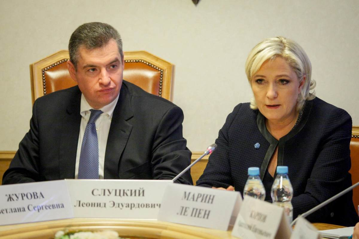 Russia Tries to Influence Le Pen to Repeal Sanctions