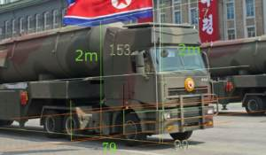 Size Estimations of Missiles Displayed in Recent North Korean Military Parade