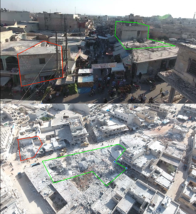 Bombing Civilians at Public Market in Syria's Atarib