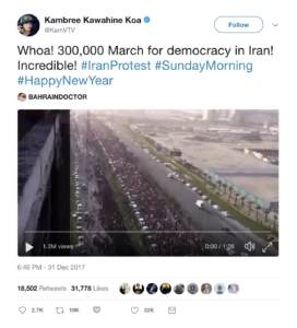 Verified and False Footage of the Iran Protests