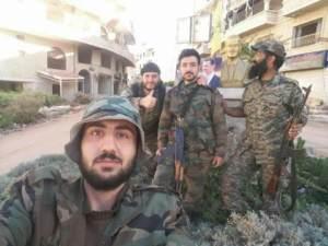 Verify Unidentified Syrian militia members