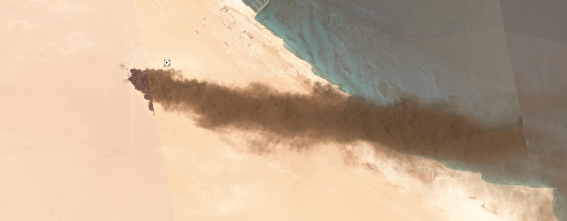 Fuel to the Fire: Satellite Imagery Captures Burning Oil Tanks Libya