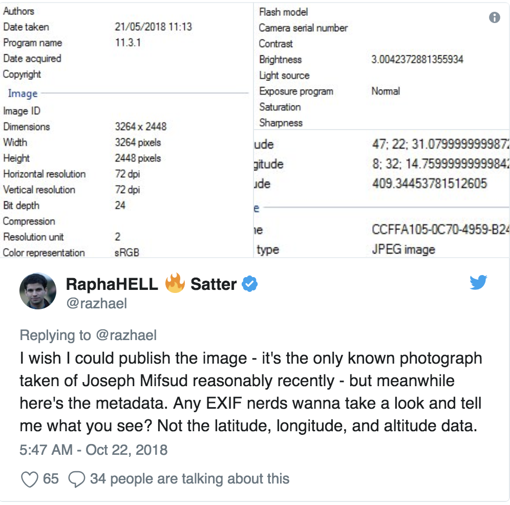 Joseph Mifsud: Rush for the EXIF