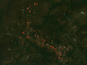 Geolocation of Infrastructure Destruction in Cameroon: A Case Study of Kumbo and Kumfutu