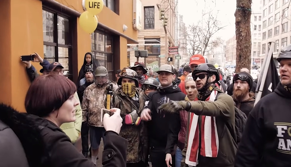 "In Portland, A Roving Right-Wing Gang ""Demasks"" Left-Wing Activists"