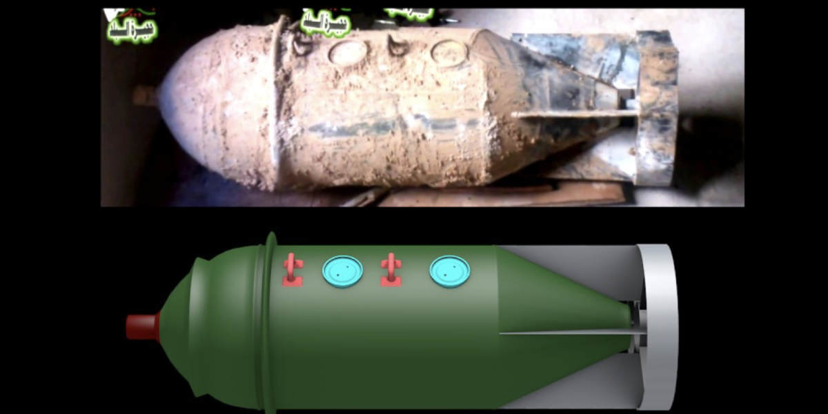 The First Images of the Type of Chemical Bomb Used in Syria's Sarin Attacks
