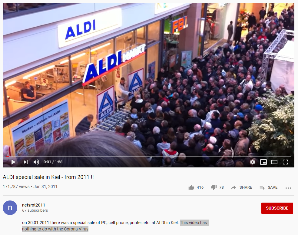 """Monitoring And Debunking COVID-19 Panic: The """"Haarlem Aldi"""" Hoax"""