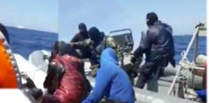 Masked Men On A Hellenic Coast Guard Boat Involved In Pushback Incident