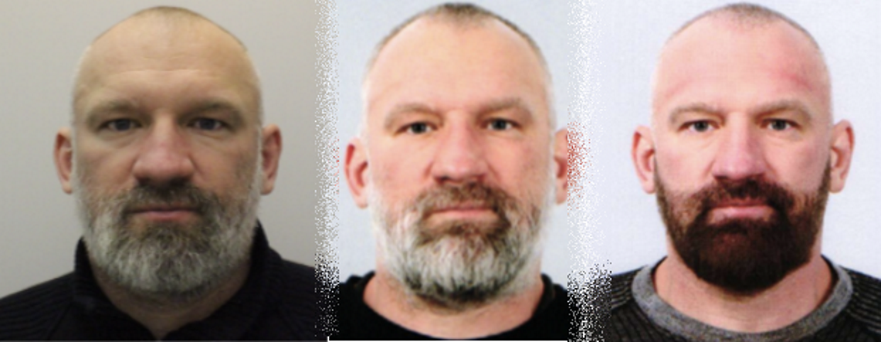 Col. Konstantin Pikalov, seen getting progressively younger on different passport photos used for various travel documents since 2015
