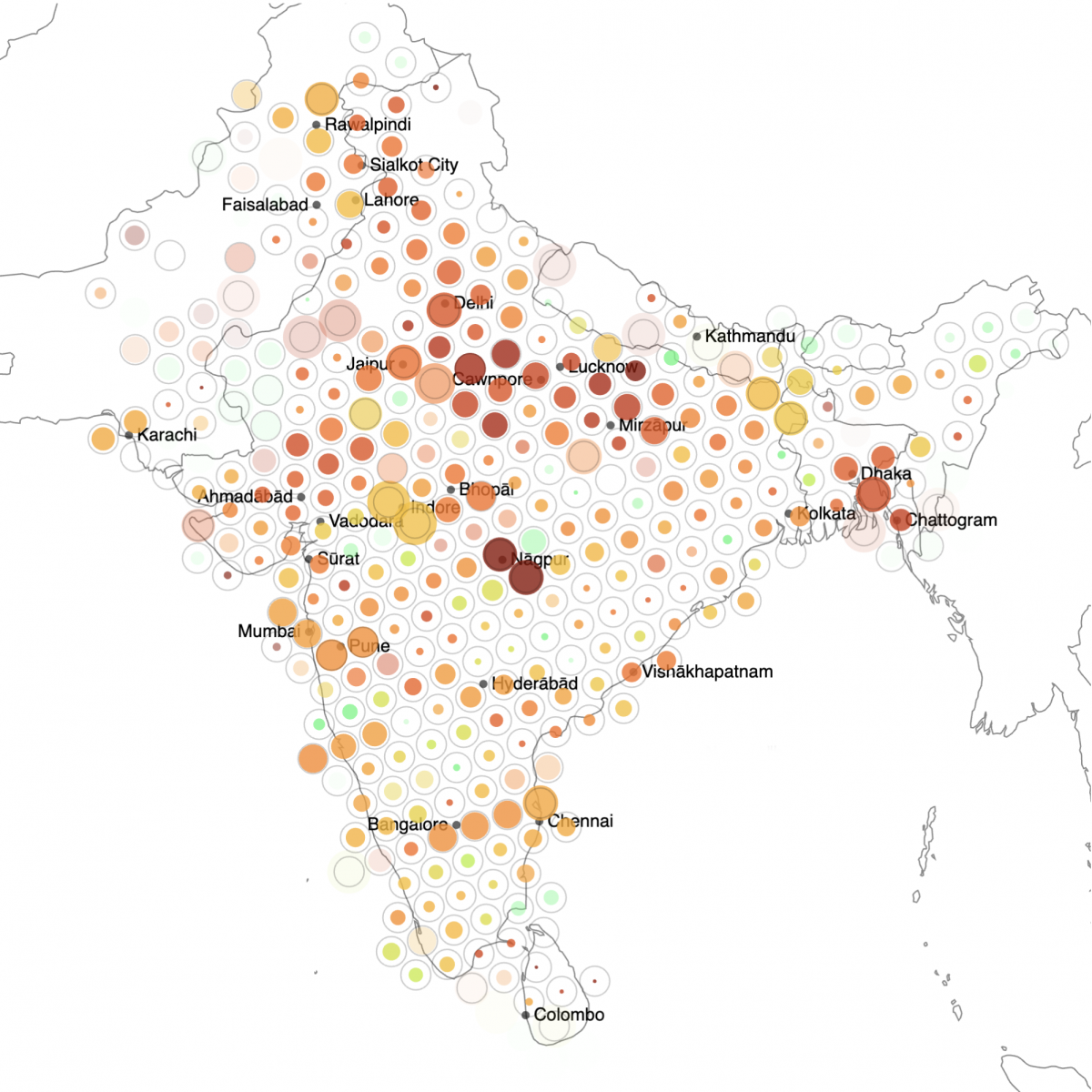 Geofenced Searches on Twitter: A Case Study Detailing South Asia's Covid Crisis