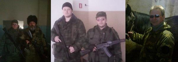 Photographs of Alexander Ganichev taken from his Vkontakte profile with other gunmen.