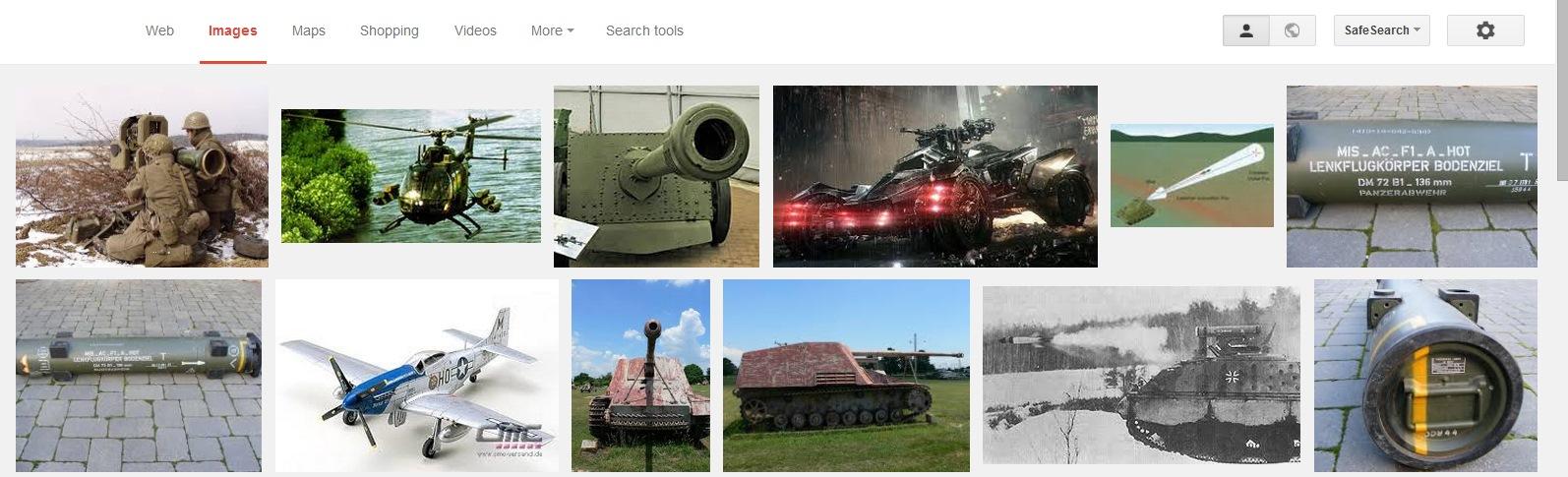 Google results German Missile