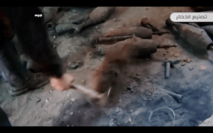 6. The mortar rounds are cleaned