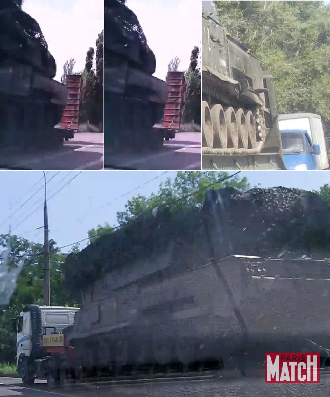Сравнение крупных планов «Бука 332» в Макеевке (слева вверху), в Алексеевке Белгородской области (справа вверху) и в Донецке (внизу))