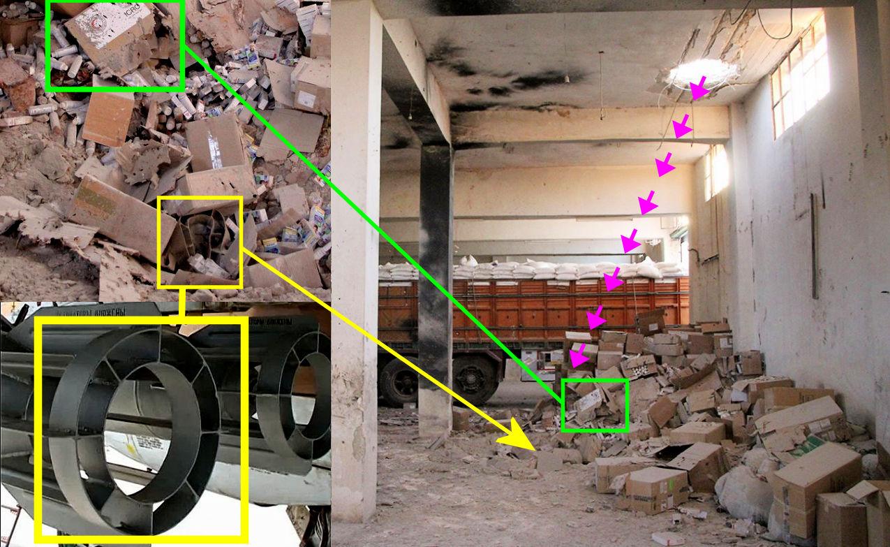 Bellingcat: Нагумконвой вСирии скинули авиабомбы русского производства