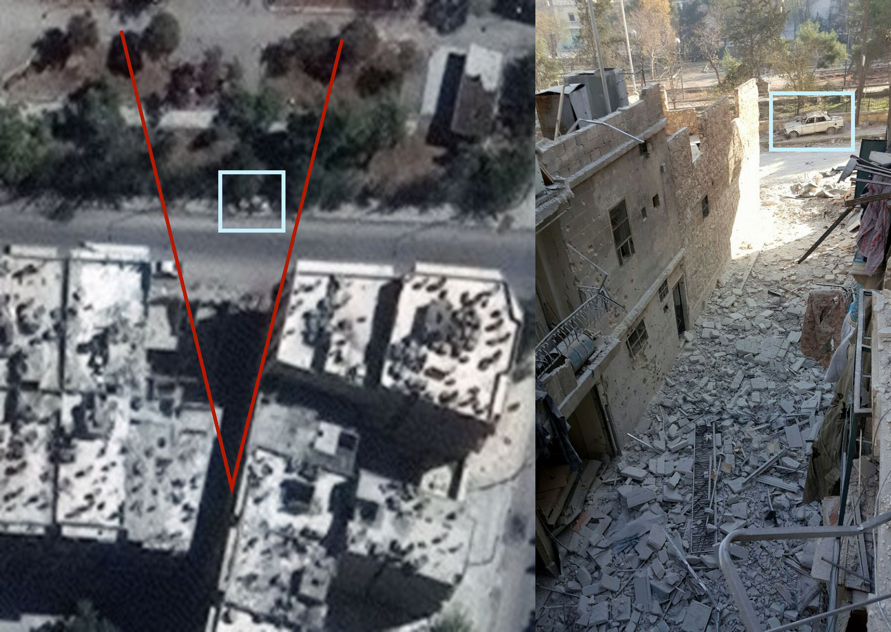 Image 21: Geolocation of bombed house