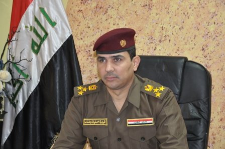 The shoulder insignia on this Iraqi military officer indicates he is a Brigadier General
