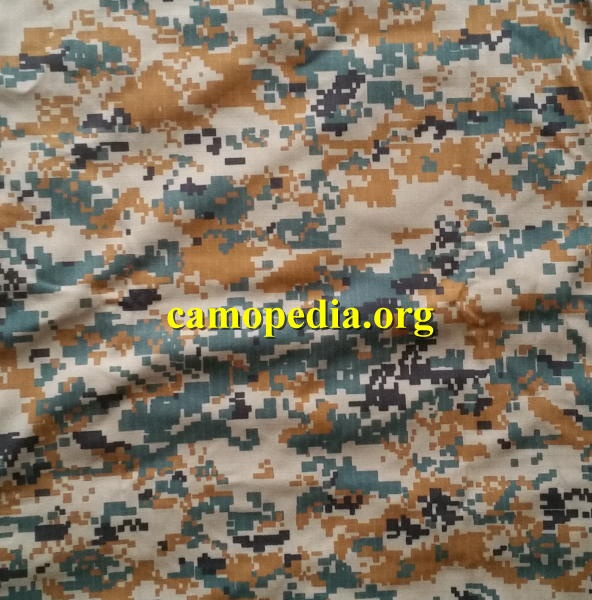 An example of IRGC Basij camouflage from Camopedia
