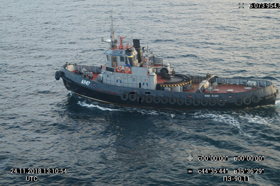 Image 1: FSB photo of the undamaged tug 'Yani Kapu' on the 24th of November