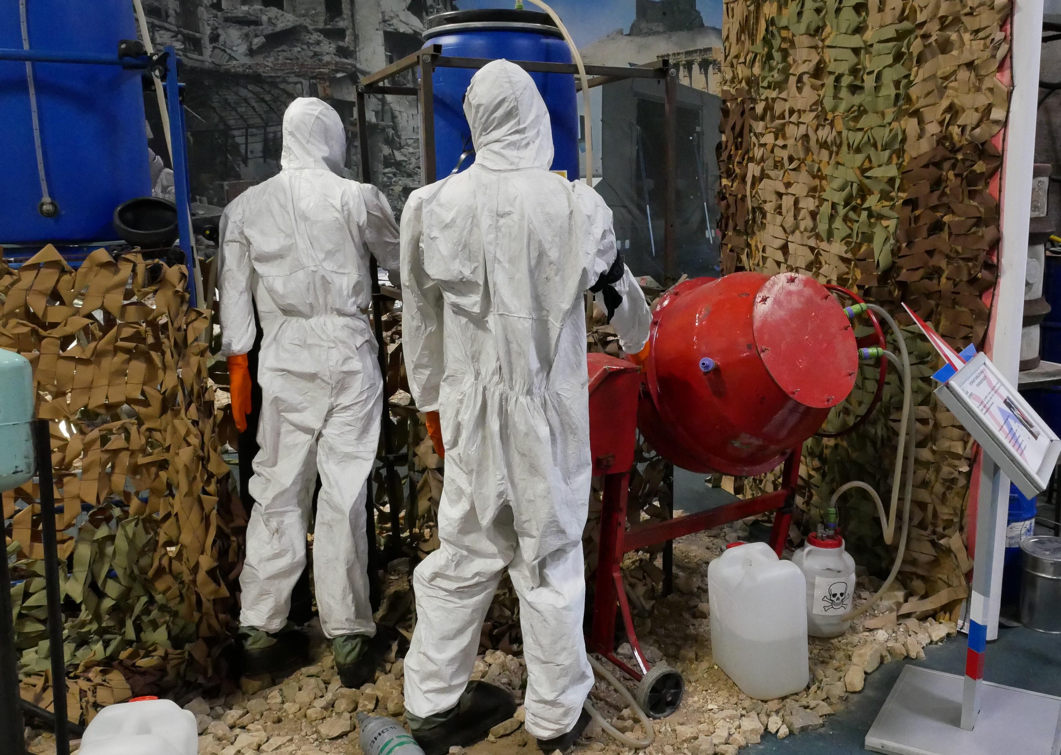 Анализ «зариновой лаборатории» в подмосковном парке «Патриот».