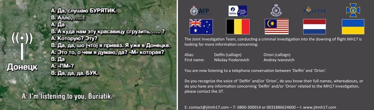 Идентификация сепаратистов, причастных к сбитию MH17