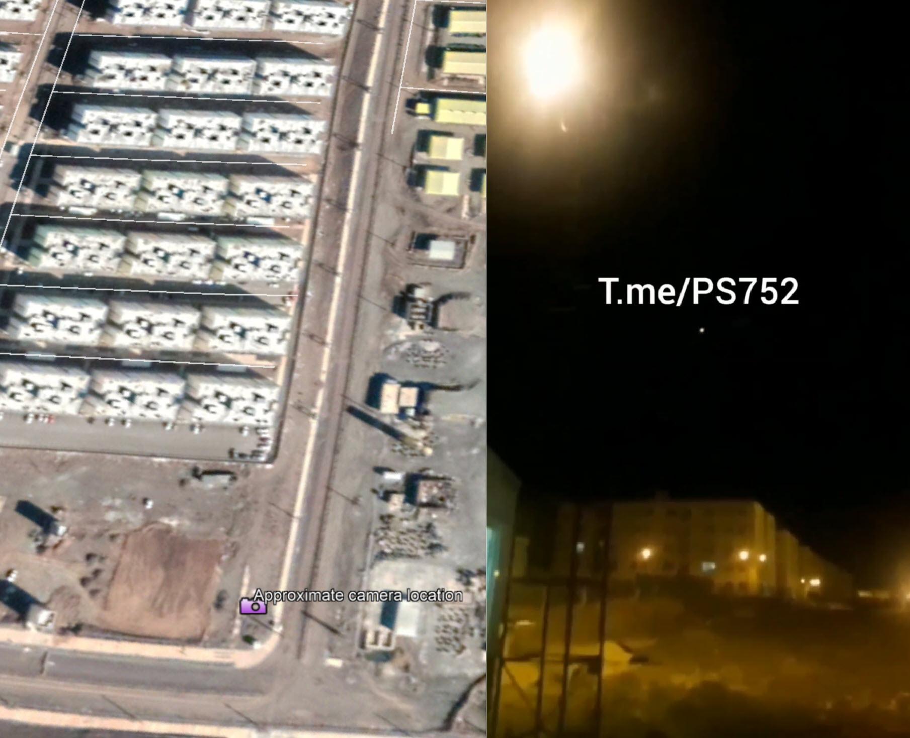 Видео предполагаемого попадания ракеты в украинский «Боинг» геолоцировано в пригороде Тегерана